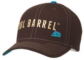 Double Barrel Logo Embroidered Flex Fit Cap, Brown, hi-res