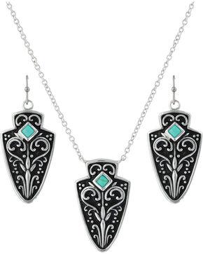 Montana Silversmiths Women's Filigree Arrowhead Jewelry Set , Silver, hi-res
