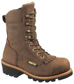 "Wolverine Chesapeake 8"" Waterproof Logger Work Boots - Steel Toe, , hi-res"