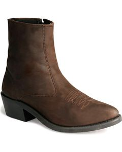 Old West Zipper Western Ankle Boots, , hi-res