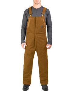 Walls Men's Brown Frost Blizzard Pruf Insulated Bib Overalls , , hi-res