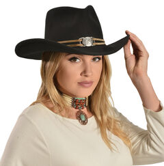 Juniper Wool Felt Cowgirl Hat, , hi-res