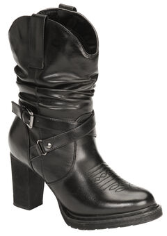 Roper Faux Leather Slouch Boots - Round Toe, , hi-res