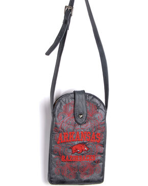 Gameday Boots University of Arkansas Crossbody Bag, Black, hi-res