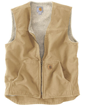Carhartt Rugged Work Vest - Big & Tall, Brown, hi-res
