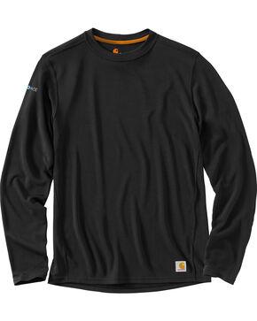 Carhartt Men's Base Force Cool Weather Crewneck Top - Big & Tall, Black, hi-res