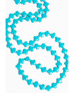 Jewelry Junkie Women's Multi-Cross Turquoise Necklace , , hi-res