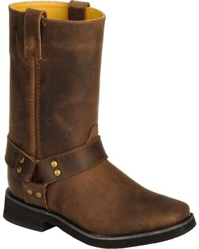 Smoky Mountain Youth Harness Boots, Brown, hi-res