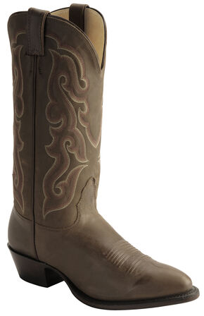 Nocona Legacy Calfskin Cowboy Boots - Medium Toe, Brown, hi-res