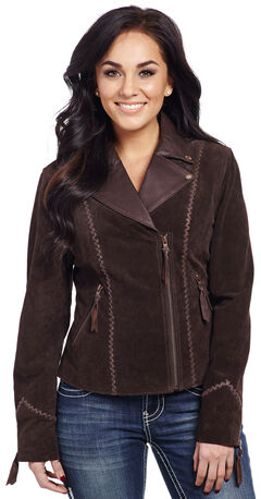 Cripple Creek Women's Hand-Laced Asymmetric Front Jacket, , hi-res