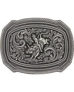 Montana Silversmith Silver Bull Rider Belt Buckle , , hi-res
