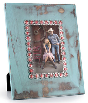 BB Ranch Distressed Turquoise Picture Frame, No Color, hi-res