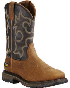 Ariat Workhog H2O 400g Cowboy Work Boots - Square Toe  , , hi-res