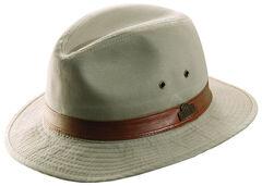 Dorfman Pacific Light Khaki Twill Safari Hat, , hi-res