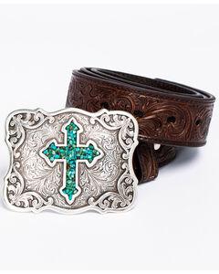 Blazin Roxx Diamond Cross Concho Belt, , hi-res