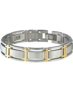 Sabona Men's Executive Symmetry Duet Magnetic Bracelet, Silver, hi-res