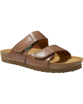 Eastland Women's Celeste Double Strap Slide Sandal , Natural, hi-res