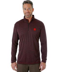 Wrangler Men's Black RIGGS WORKWEAR® 1/4 Zip Pullover - Big and Tall, , hi-res