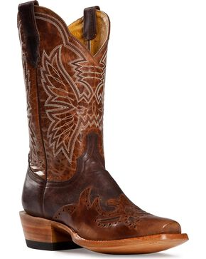 Cinch Classic Chocolate Mad Dog Wingtip Cowgirl Boots - Square Toe, Chocolate, hi-res