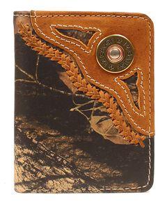 Nocona Mossy Oak 12 Gauge Shell Bi-Fold Wallet, , hi-res