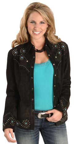 Scully Studded Leather Jacket, Black, hi-res