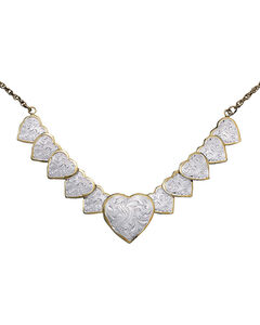 Montana Silversmiths Silver and Gold Heart Necklace, , hi-res