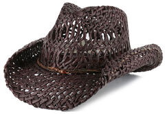 Shyanne Women's Ford Loose Weave Straw Hat, , hi-res