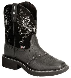 Justin Gypsy Black Wing Stitched Cowgirl Boots - Square Toe, , hi-res