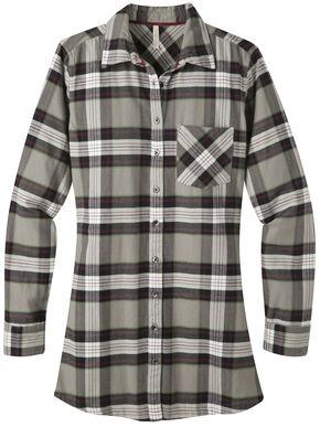 Mountain Khakis Women's Penny Plaid Tunic Shirt, Dark Grey, hi-res