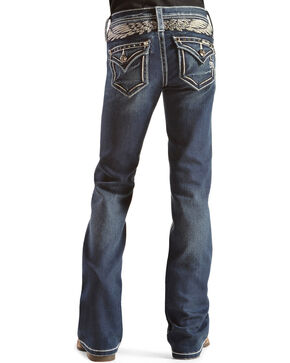 Miss Me Girls' Take Flight Bootcut Jeans, Denim, hi-res