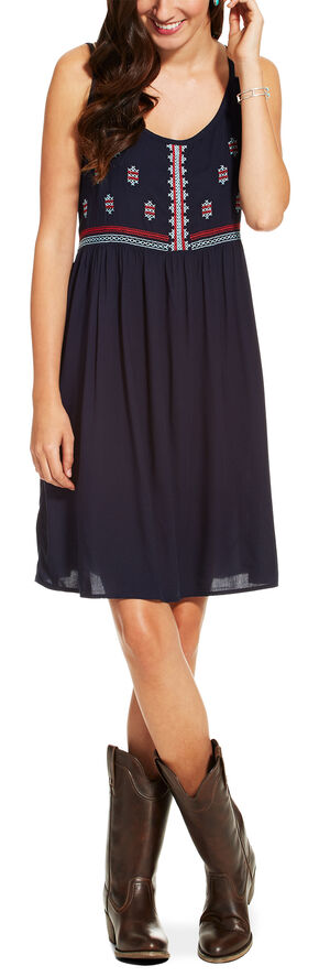 Ariat Women's Navy Sleeveless Susie Dress, Navy, hi-res