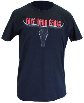 Cowboy Hardware Face Your Fears Soft Style Tee, Black, hi-res