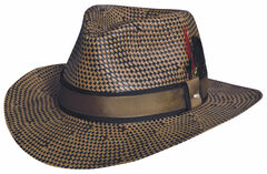 Black Creek Toyo Straw Two-Tone Patterned Hat, , hi-res
