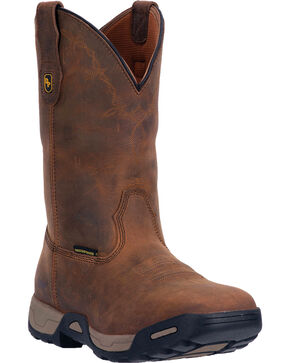 Dan Post Tan Hudson Waterproof Work Boots - Steel Toe , Tan, hi-res