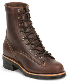 Chippewa Men's 1935 Original Chocolate Mountaineer Logger Boots - Round Toe, , hi-res