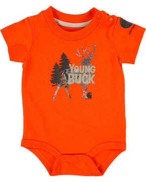 Carhartt Infant Boys' Orange Young Buck Onesie , Orange, hi-res