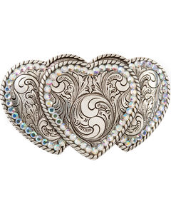 Triple Heart Buckle, , hi-res
