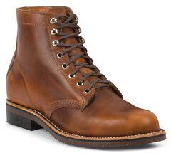 Chippewa Men's 1939 Original Tan Service Boots - Round Toe, , hi-res