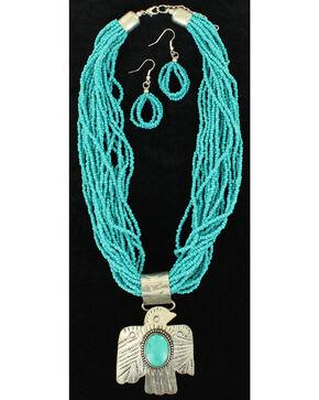 Blazin Roxx Thunderbird Necklace & Earrings Set, Turquoise, hi-res