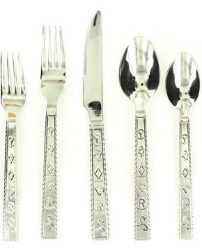 Branded Flatware Set - 20 Piece Set, Multi, hi-res