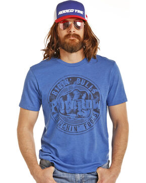 Rock & Roll Cowboy Men's Blue Dale Brisby Punchin' Fools Tee, , hi-res
