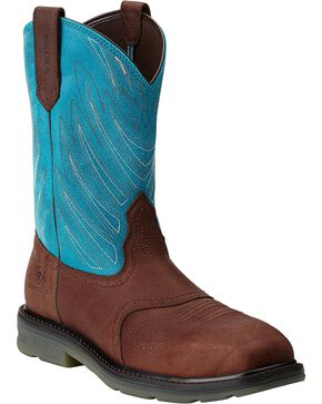 Ariat Maverick Pull-On Work Boots - Composition Toe, Brown, hi-res