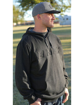 Cinch Men's Black Embossed Logo Hoodie, Black, hi-res