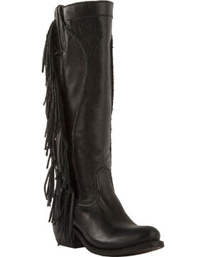 Junk Gypsy by Lane Women's Black Texas Tumbleweed Boots - Round Toe , Black, hi-res
