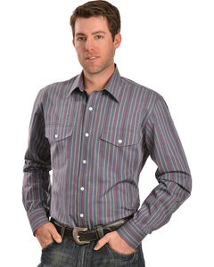 Gibson Trading Co. Dobby Striped Charcoal Shirt, , hi-res
