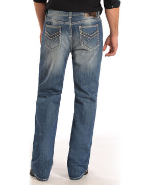 Rock and Roll Cowboy Double Barrel Thin Line Pocket Jeans - Straight Leg , Denim, hi-res