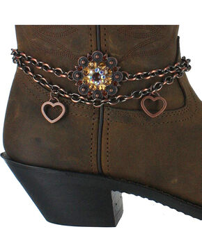 Shyanne® Women's Sunburst Floral Boot Bracelet, Brown, hi-res