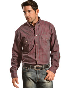 Gibson Trading Co. Men's Red Plaid Western Shirt, , hi-res