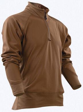 Tru-Spec Men's Tan 24-7 Cross-Fit Grid Fleece Pullover , Tan, hi-res