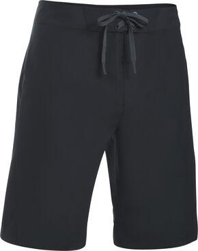 Under Armour Men's Black Mania Board Shorts, Black, hi-res